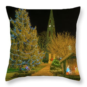 Christmas At The Historic District Of Goshen New York Throw Pillow