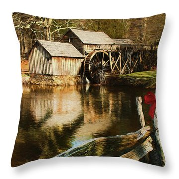 Throw Pillow featuring the photograph Christmas At The Mill by Darren Fisher
