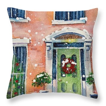 Christmas At The Rectory Throw Pillow