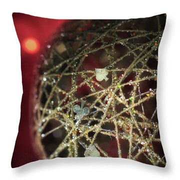 Christmas Ball Decoration Throw Pillow by Stephan Grixti
