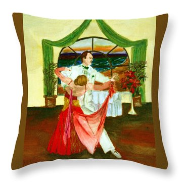 Christmas Ball Throw Pillow by Gail Daley