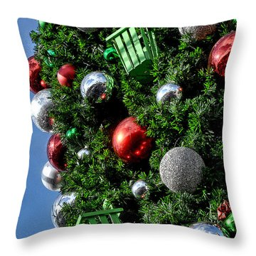 Christmas Balls Throw Pillow