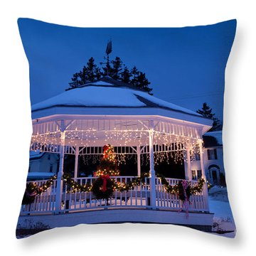 Christmas Bandstand Throw Pillow