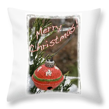 Christmas Bell Ornament Throw Pillow