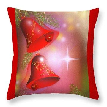 Christmas Bells Throw Pillow