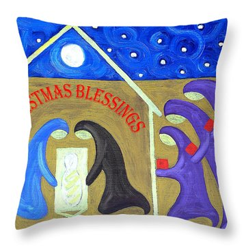 Christmas Blessings 2 Throw Pillow by Patrick J Murphy