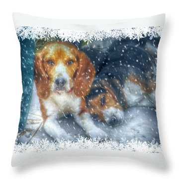 Christmas Brothers Throw Pillow