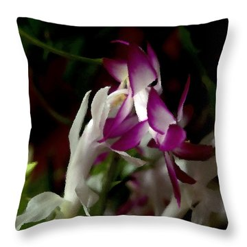 Christmas Cactus Throw Pillow