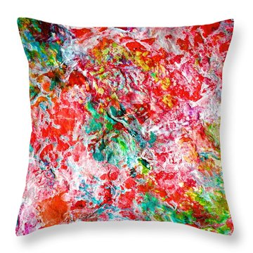 Christmas Candy Color Poem Throw Pillow