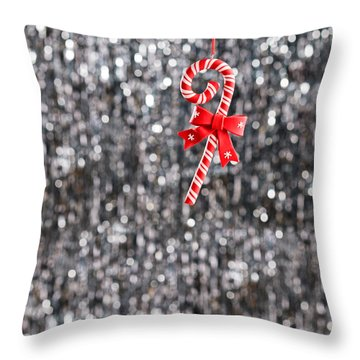 Throw Pillow featuring the photograph Christmas Candy  by Ulrich Schade