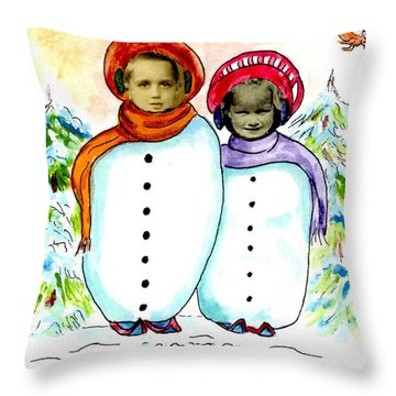 Happy Holidays Throw Pillow by Philip Bracco