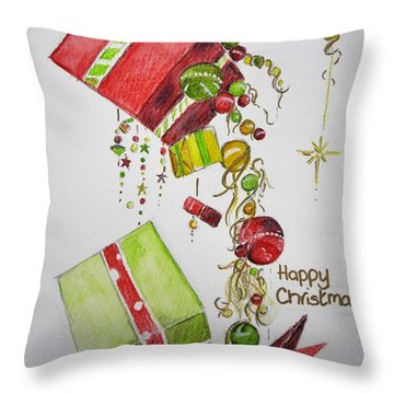 Christmas Card Throw Pillow