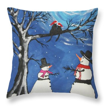 Christmas Cats In Love Throw Pillow
