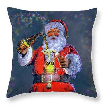 Christmas Cheer Iv Throw Pillow by Dave Luebbert