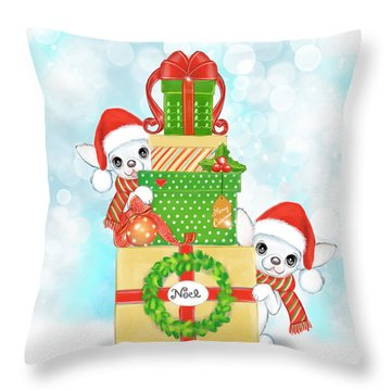 Christmas Chi Elves Throw Pillow