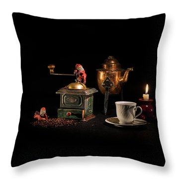 Throw Pillow featuring the photograph Christmas Coffee-time by Torbjorn Swenelius