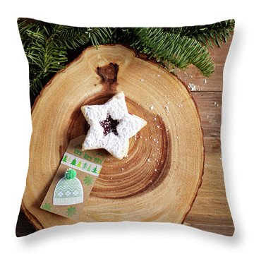 Throw Pillow featuring the photograph Christmas Cookies by Rebecca Cozart