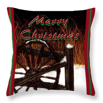 Throw Pillow featuring the digital art Christmas Country by Michelle Audas