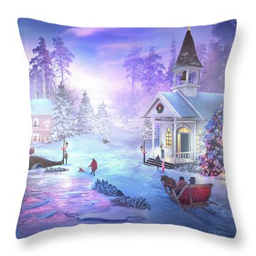 Christmas Creek Throw Pillow