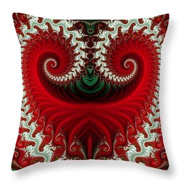 Christmas Swirls Throw Pillow