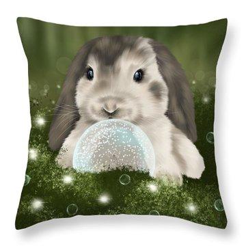 Throw Pillow featuring the painting Christmas Decoration  by Veronica Minozzi