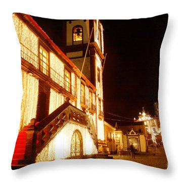 Christmas Decorations Throw Pillow by Gaspar Avila
