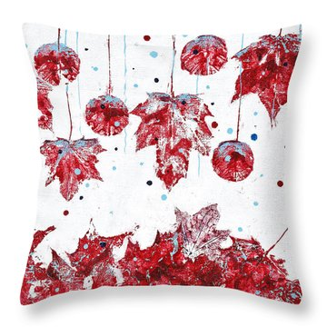 Christmas Decorations Of Nature Throw Pillow