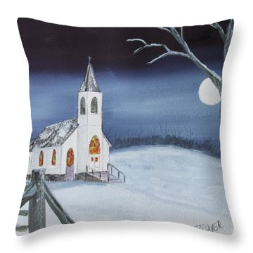 Christmas Eve Throw Pillow