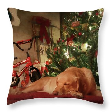 Throw Pillow featuring the photograph Christmas Eve by Lori Deiter