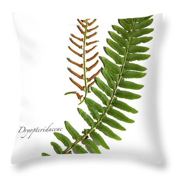Christmas Fern Throw Pillow