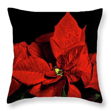 Christmas Fire Throw Pillow