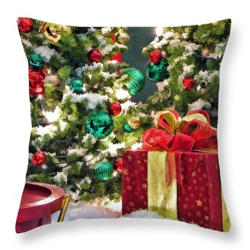 Christmas Gift Throw Pillow by Christopher Arndt