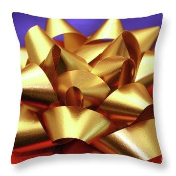Christmas Gift Throw Pillow by Gaspar Avila