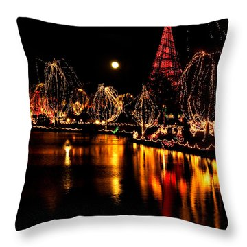 Christmas Glow Throw Pillow by Lana Trussell