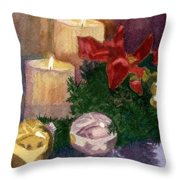 Christmas Glow Throw Pillow by Lynne Reichhart