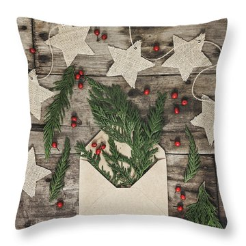 Throw Pillow featuring the photograph Christmas Greens by Kim Hojnacki