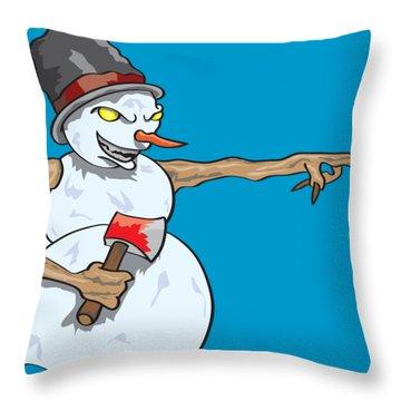Christmas Horror Nightmares Throw Pillow