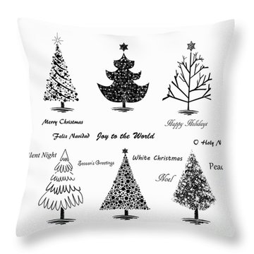 Throw Pillow featuring the photograph Christmas Illustration by Stephanie Frey