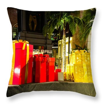 Christmas In Beverly Hills Throw Pillow by Robert Hebert