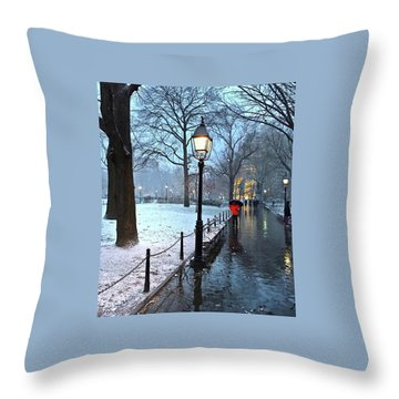 Christmas In Central Park Throw Pillow