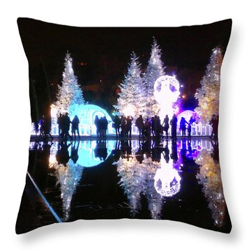 Christmas In Nizza, Southern France Throw Pillow