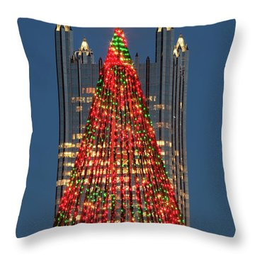 Throw Pillow featuring the photograph Christmas In Pittsburgh 2016  by Emmanuel Panagiotakis