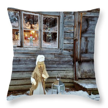 christmas in Scandinavia Throw Pillow