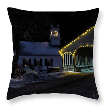 Christmas In Stark New Hampshire Throw Pillow