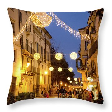 Christmas In Vicenza Italy Throw Pillow