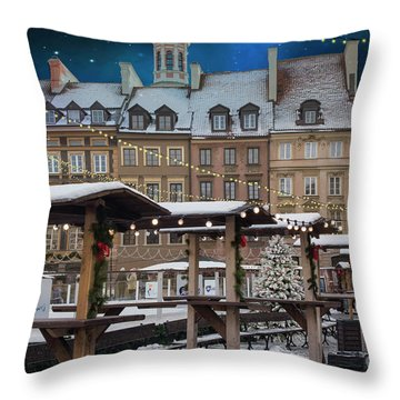 Throw Pillow featuring the photograph Christmas In Warsaw by Juli Scalzi