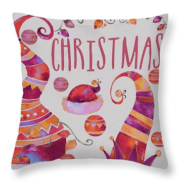 Throw Pillow featuring the photograph Christmas by Jeff Burgess