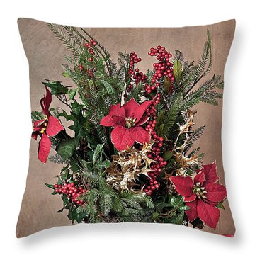 Christmas Jewels Throw Pillow