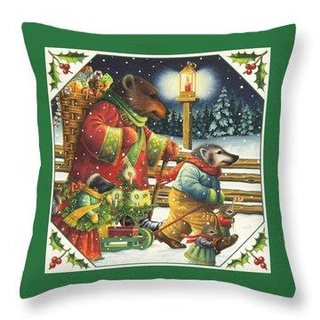 Christmas Journey Throw Pillow