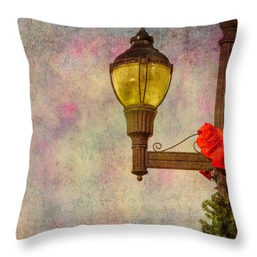 Christmas Lamp Post Throw Pillow by Phillip Burrow